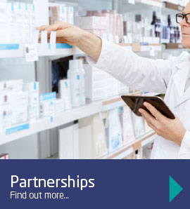 Our partnerships include the NHS