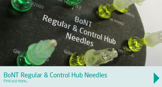 BoNT regular and control hub needles