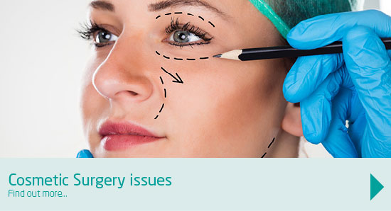 We address cosmetic surgery issues